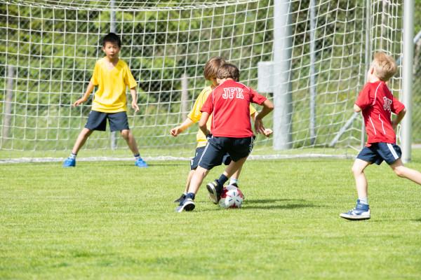 Football kids playing