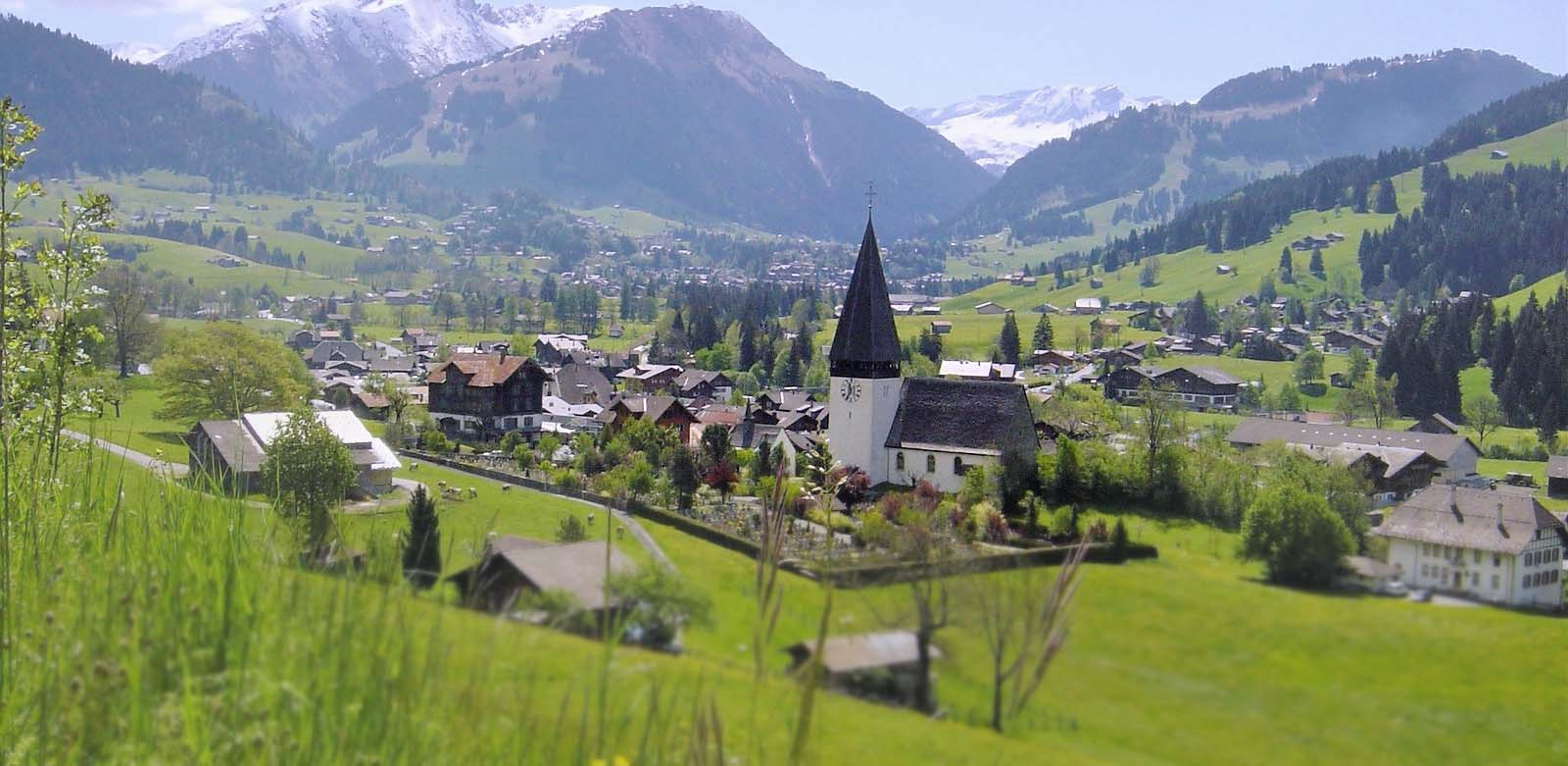 Saanen village view